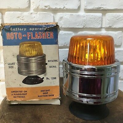 Garage Gyrophare vintage signal light Roto Flasher boite d'origine 1960's Déco