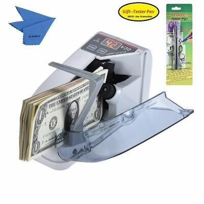Aibecy Mini Portable Handy Bill Cash Banknote Counter Money Currency Counting