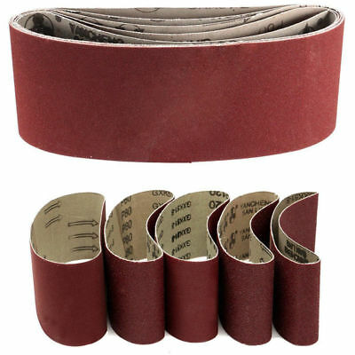 Pack Of 5Pcs 75x457mm Sanding Belts Mix Grits 60-240 Sander Power Tool Stock