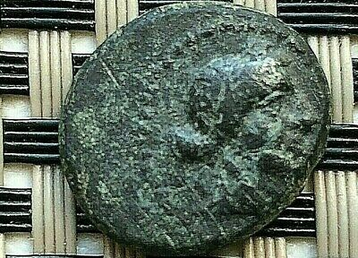 Sardes, Lydia 133-1 Bc Ae15 Apollo & Club Ancient Greek Bronze Coin