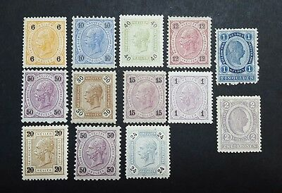 Timbres Autriche Neuf Gomme
