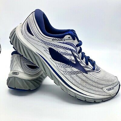 1ed1e88448f Mens Brooks Glycerin 15 Running Shoes Silver Navy Blue Grey Size 9.5  1102581D046