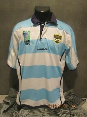 maillot shirt ARGENTINE WC 2003 PUMAS ARGENTINA TOPPER RUGBY  camiseta  jersey