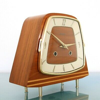 HERMLE Mantel Clock Vintage RARITY 1960s SERVICED WARM Chime Germany Mid Century