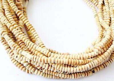 A strands Tiny Antique African Clay Terracotta Mali Trade Beads African