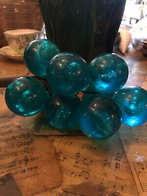 Vintage Lucite Acrylic Teal/Turquoise Mid Century Table Grapes