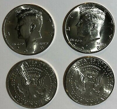 2018 P D Kennedy Half Dollars (2) From Mint Wrapped Rolls PD