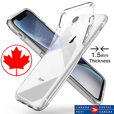 Premium Quality Clear Case for iPhone XR - Transparent - 1.5mm Thickness