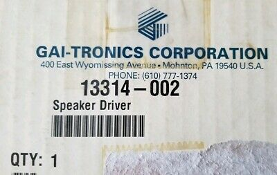 GAI-TRONICS 13314-002 SPEAKER DRIVER (New/Surplus)
