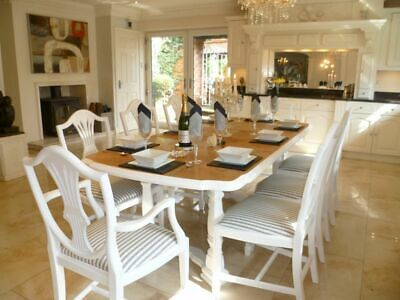 OAK Dining Table - 6 Chairs - Tiger Oak LARGE - Extending - shabby chic