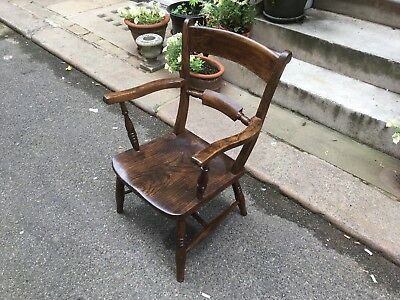 Victorian mahogany Oxford arm chair