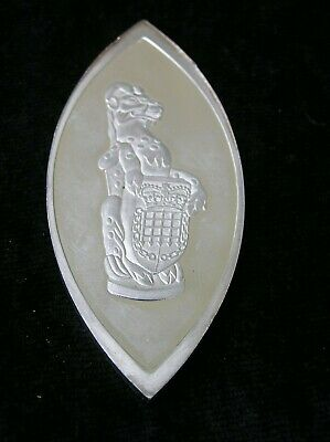 SOLID SILVER INGOT of THE YALE OF BEAUFORT QUEEN'S BEASTS MEDALLIONS