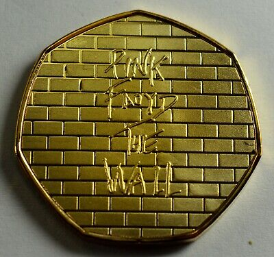 PINK FLOYD 'THE WALL' Collectors Album/Token/Medal 24ct Gold. Music Prog Rock
