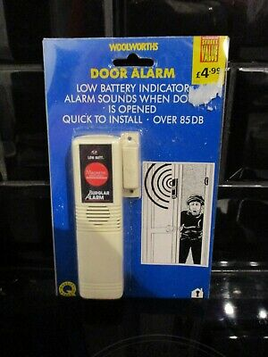Woolworths Door Alarm Quick To Install Over 85Db Brand New Very Rare