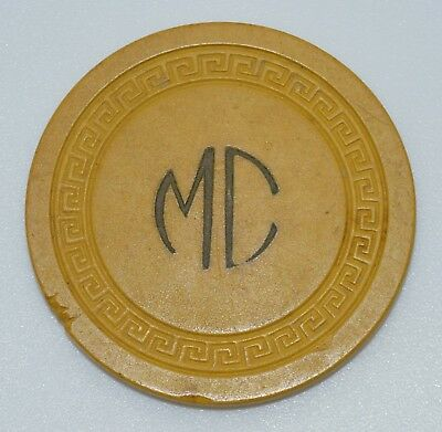 MC Card Room Yellow Chip Sm-Key Mold Made by B.C. Wills & Co.