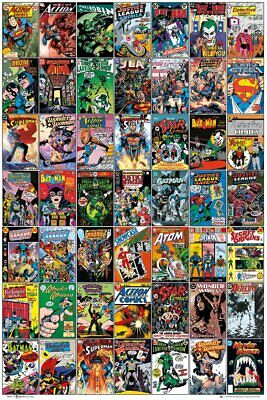 DC COMICS - COMIC COVERS POSTER 24x36 - COLLAGE 50459