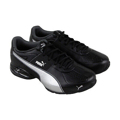 Puma Cell Surin 2 Fm Mens Black Leather Athletic Lace Up Running Shoes