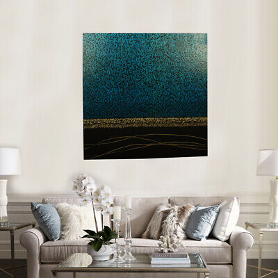 Hand Painted Abstract Art Canvas Oil Painting Modern Home Decor - Framed Seaside