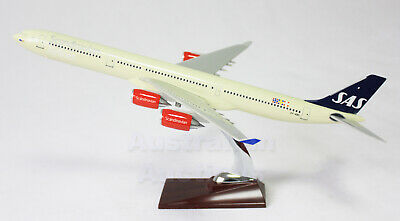 SCANDINAVIAN A340; 47cm LARGE PLANE MODEL AIRPLANE  SOLID RESIN