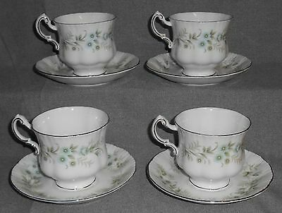 Set (4) Paragon Bone China DEBUTANTE Cups/Saucers