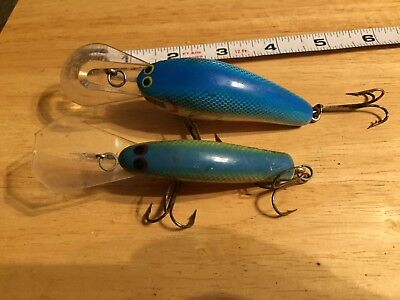 Fishing lure lot vintage old crankbaits cranks lebo wooden wood coffin bill blue