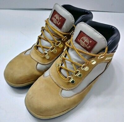 140fa9cb120 TIMBERLAND FIELD BOOTS Junior Wheat Leather Fabric 15945M Youth Size 5.5 M