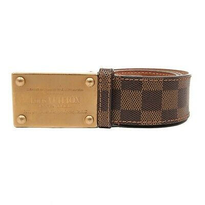 e6a5f079da84 LOUIS VUITTON BELT - Inventeur Damier - Brown Checkered - 38 waist ...