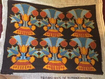 Rare 1976 METROPOLITAN MUSEUM TREASURES OF TUTANKHAMUN NEEDLEPOINT By MAZALTOV