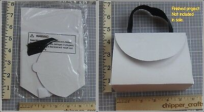 Cardboard PURSE package gift DIY 2 sets white black ribbon assembly required NEW