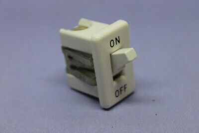 NEW Vintage Leviton White Single-Pole Snap-in Toggle Switch - 20A - 3/4HP