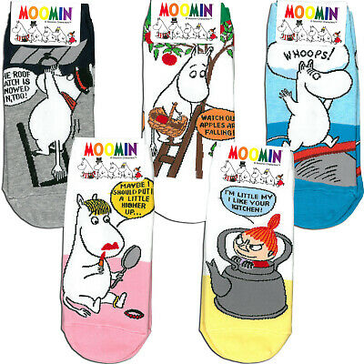 Moomin Story Low Ankle socks for Woman 1 or 2 pairs choose option 5 kinds