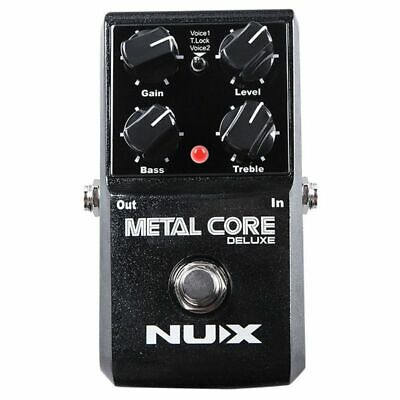 NUX Upgraded Metal Core Deluxe Distortion Guitar effects Pedal classic metal 4H2