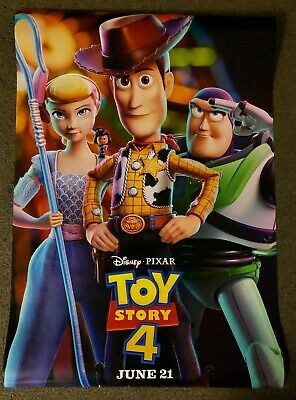 Toy Story 4 Version C 27x40 D/S Movie Theater Poster Pixar