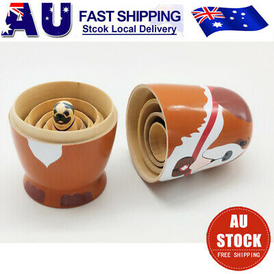 5Pcs Nesting Dolls Adorable Puppy Dog Russian Stacking Dolls Cute Collection Toy