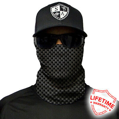 SA COMPANY Face Shield Mask MULTI-USE TUBULAR BANDANA Carbon Fibre