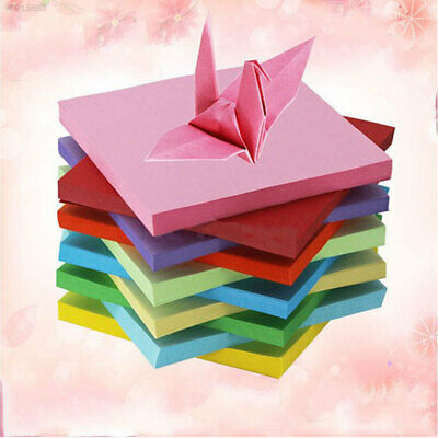 100Pc Origami Square Hand Paper Double Sided Sheets Craft Scrapbooking New 10CM