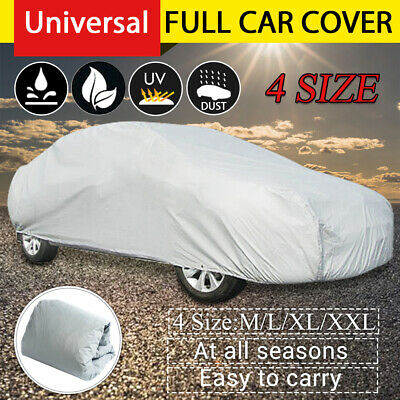 Full Car Cover Universal Waterproof Heavy Duty Large Rain Sun UV Rain Resistant