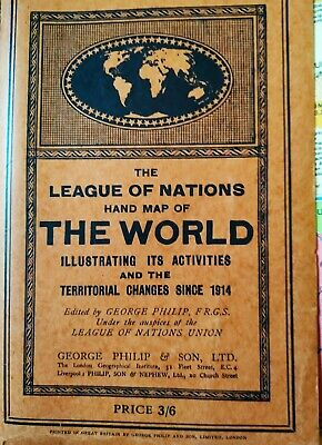 Hand Map of the World, The League of Nations, George Philip & Son, LTD., 1931
