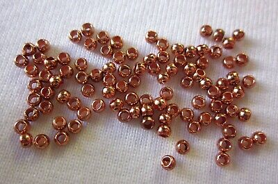 300 Round Crimps 2mm Copper Coloured #1753 Jewellery Making Findings Beading