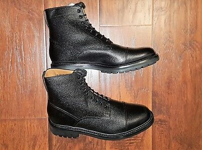 *SALE* NEW Grenson Joseph Pebbled Leather English Cap Toe Dress Boots US10 UK9