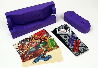 IMPROVED! Pro 34mm Fingerboard Mold, Graphic Veneer, Grip + Rails berlinwood