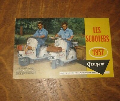 catalogue gamme peugeot scooter 1957 s57 s157