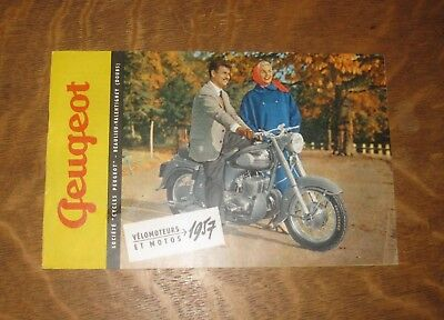 catalogue gamme peugeot moto 1957 gamme complete