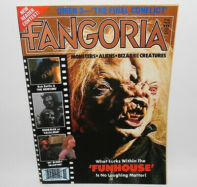 Fangoria #11 Horror Magazine 1981 Funhouse The Omen The Howling