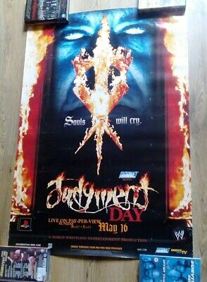 WWE Judgment Day 2004 Undertaker pay per view  Wrestling Poster  WWF TNA AEW