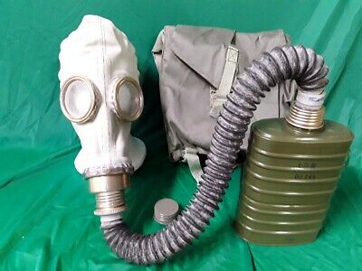Polish OM-14 New Old Stock Gas Mask Military Surplus w/Bag Hose & Filter Small