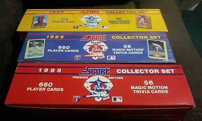 1988 Score Baseball Card Set 660 Cards 56 Magic Motion