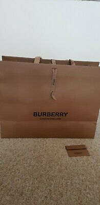 Large Burberry Paper Carrier Bag And Envelope for coat bag new designs42/54/21cm