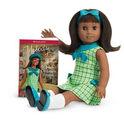 "AMERICAN GIRL DOLL Melody Ellison 18""Doll NIB with Book"