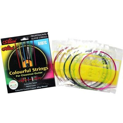 Alice A107C Colorful Classical Guitar Strings Colorful Nylon Colorful Coated 2E8